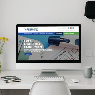 Eccentric Web Development Portfolio - Liberty Market Pharmacy
