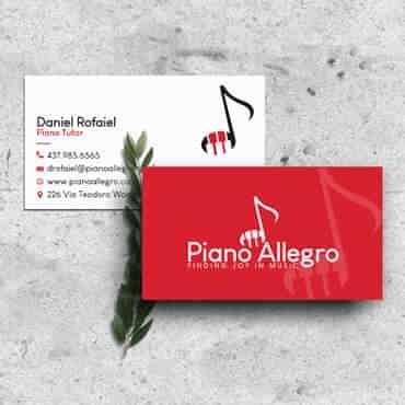 Eccentric Graphic Design Portfolio -  Piano Allegro